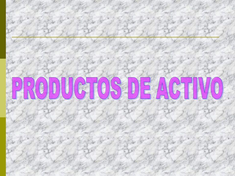 PRODUCTOS DE ACTIVO