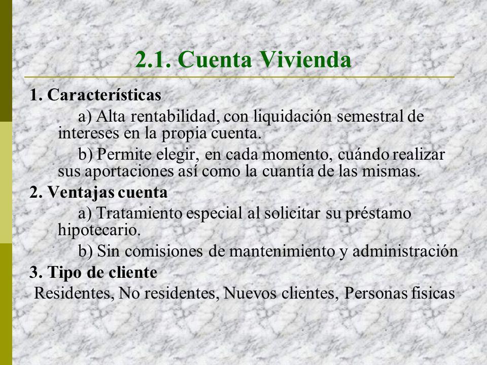 2.1. Cuenta Vivienda 1. Características