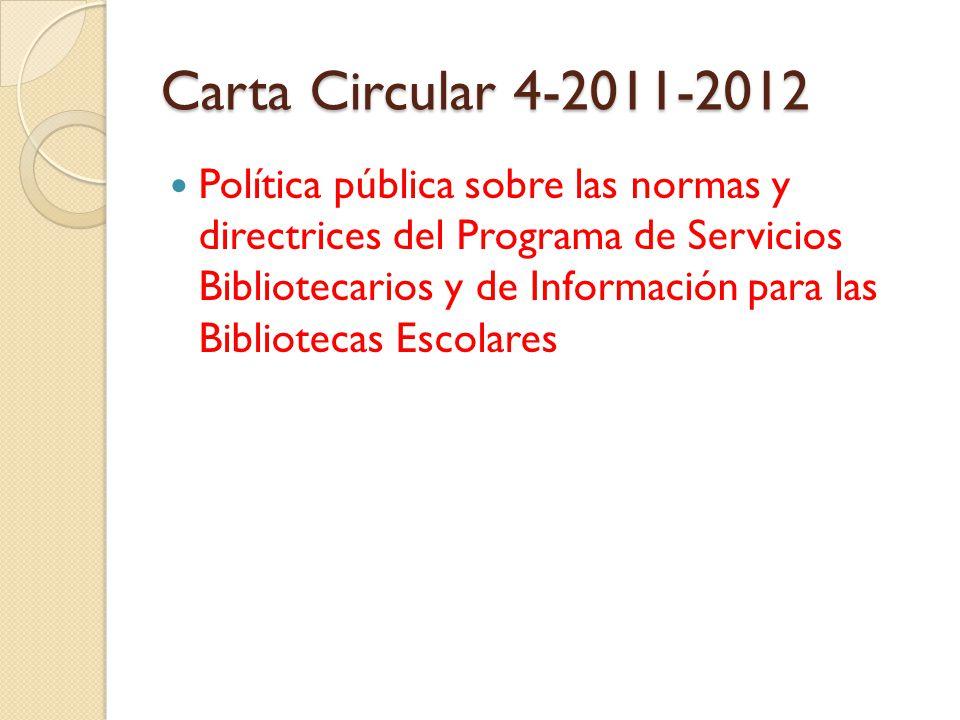 Carta Circular 4-2011-2012