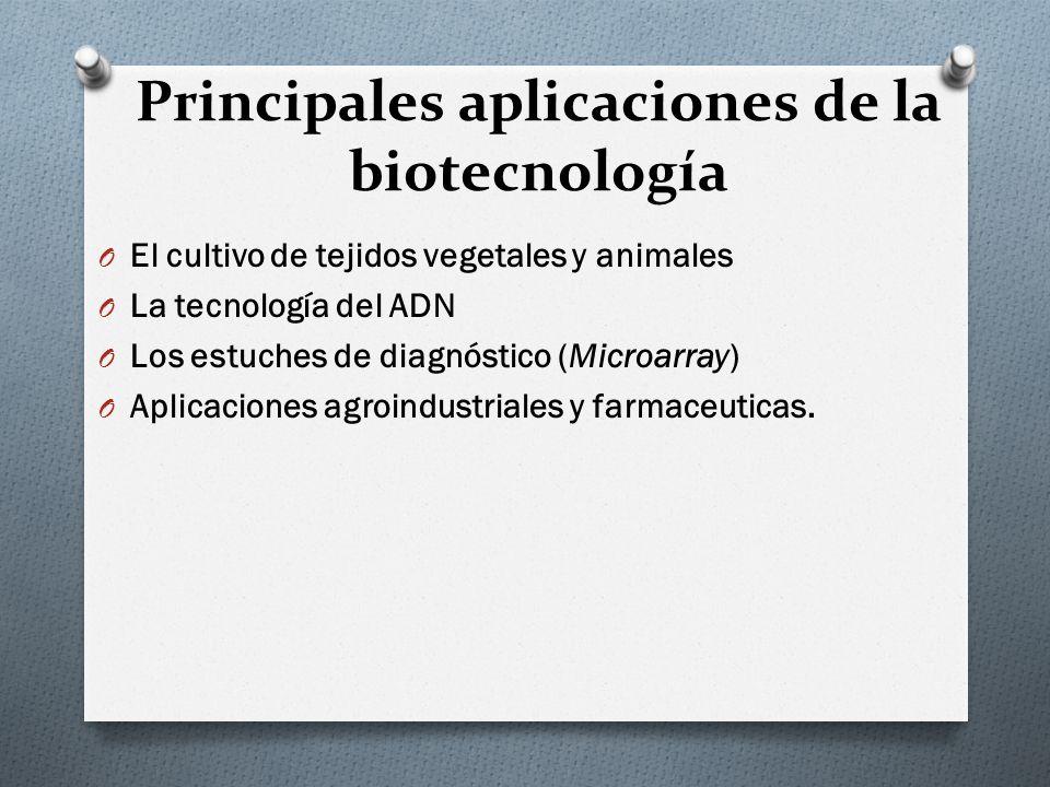 Principales aplicaciones de la biotecnología