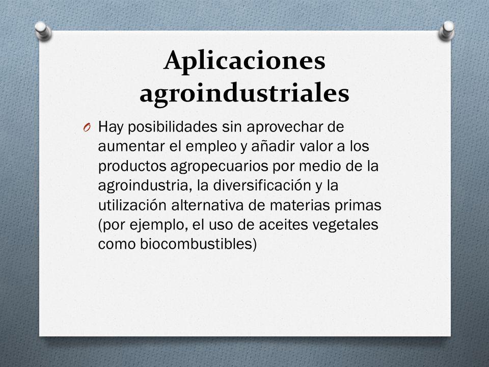 Aplicaciones agroindustriales