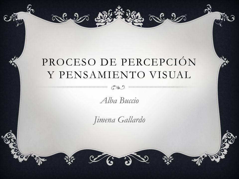Proceso de percepción y Pensamiento visual