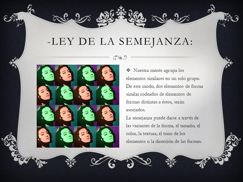 -Ley de la Semejanza: