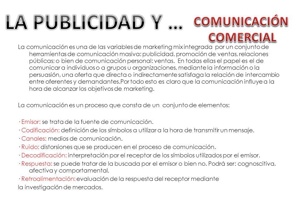 LA PUBLICIDAD Y … COMUNICACIÓN COMERCIAL