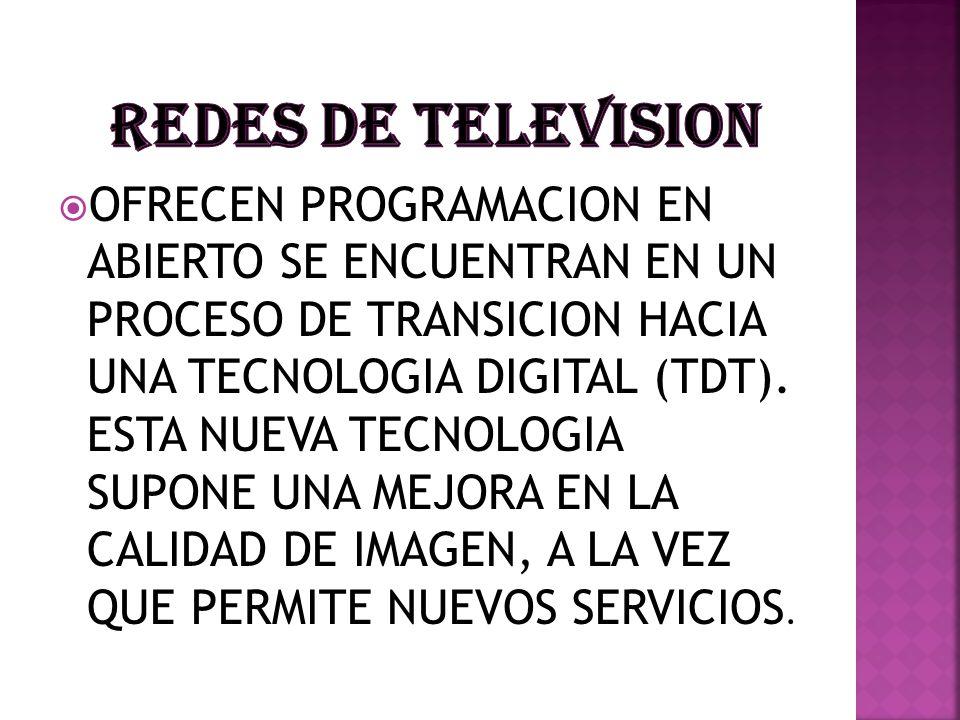 REDES DE TELEVISION
