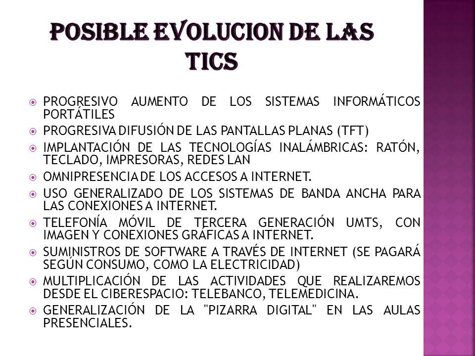 POSIBLE EVOLUCION DE LAS Tics