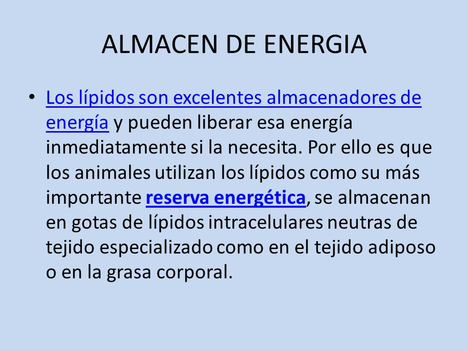 ALMACEN DE ENERGIA