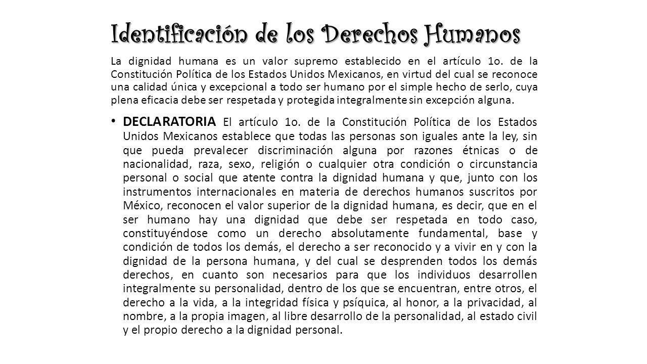 Identificación de los Derechos Humanos