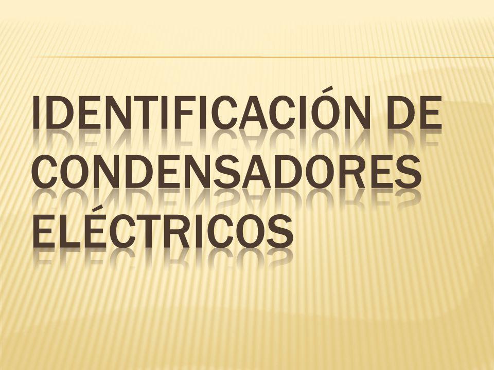 Identificación de condensadores eléctricos