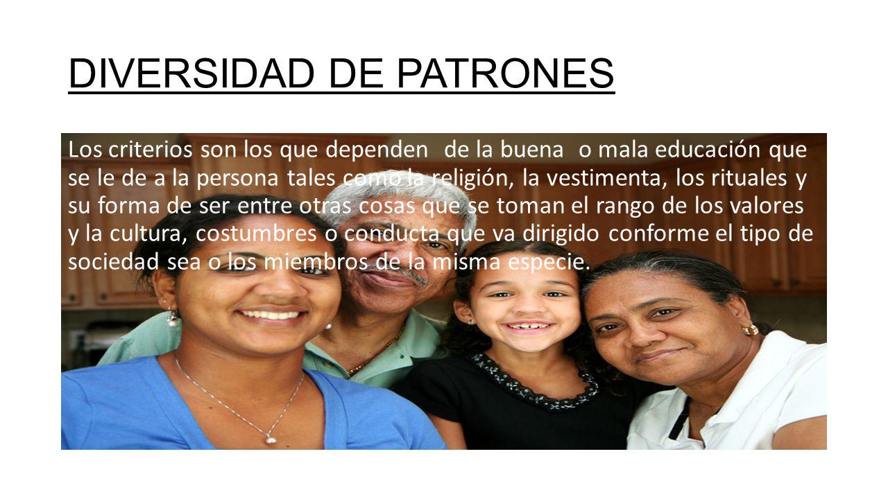 DIVERSIDAD DE PATRONES