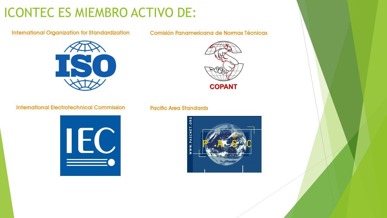 ICONTEC ES MIEMBRO ACTIVO DE:
