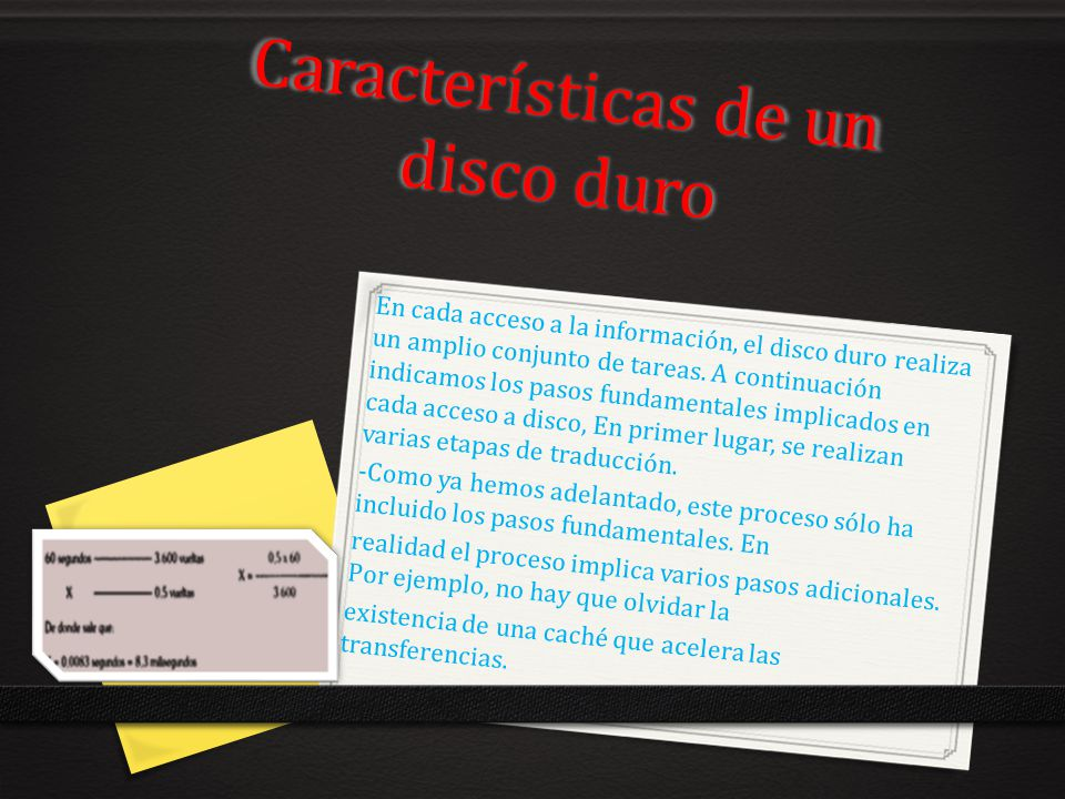Características de un disco duro