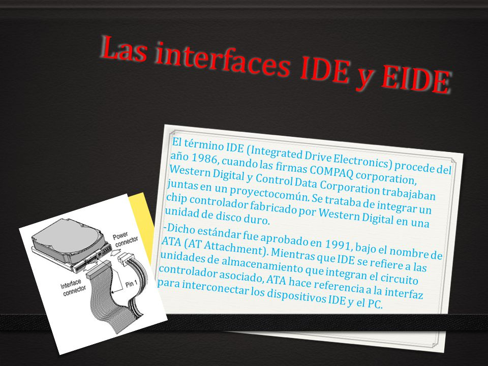 Las interfaces IDE y EIDE