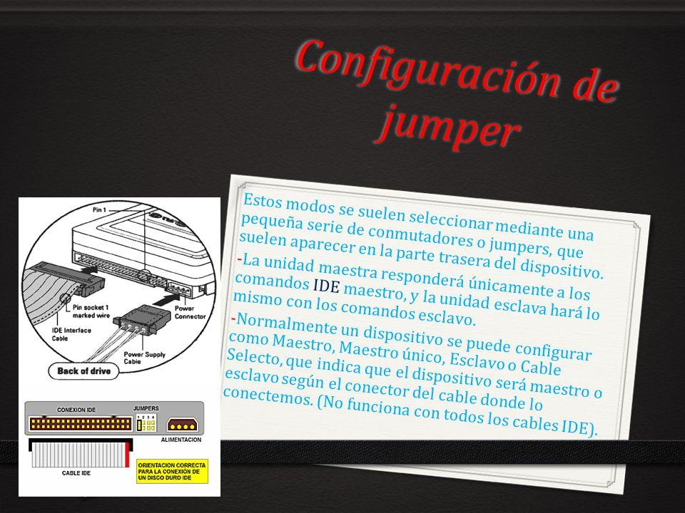 Configuración de jumper