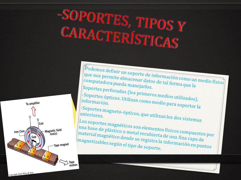 -SOPORTES, TIPOS Y CARACTERÍSTICAS