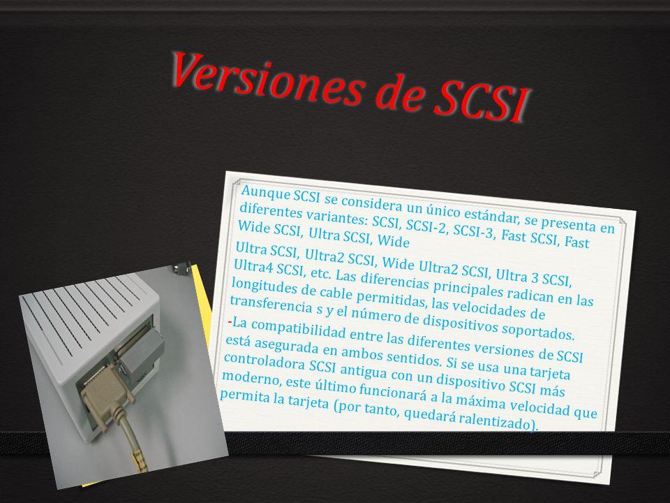 Versiones de SCSI