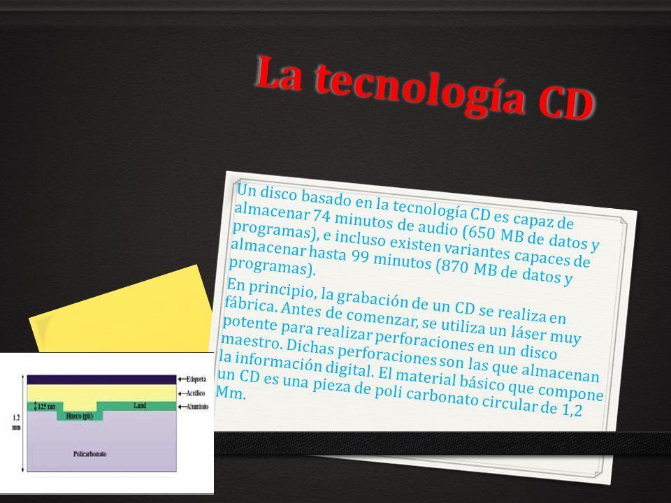 La tecnología CD