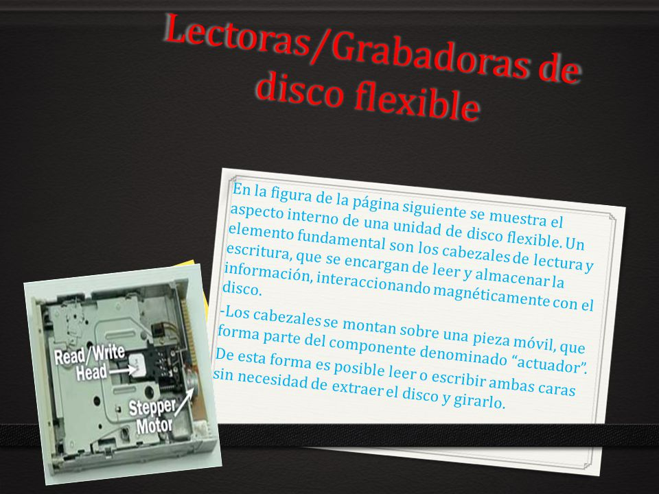 Lectoras/Grabadoras de disco flexible