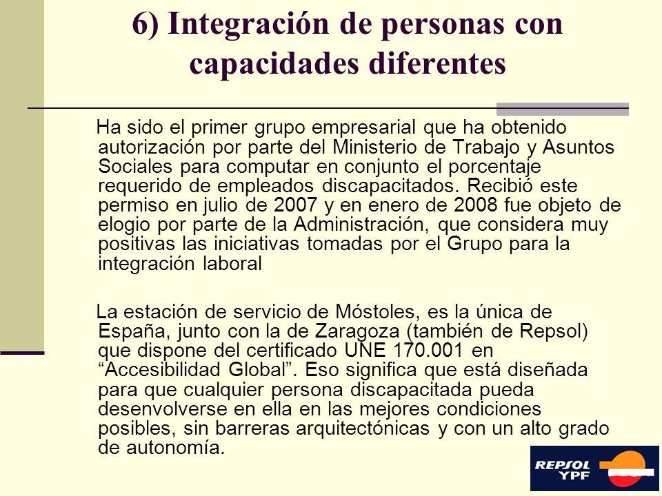 6) Integración de personas con capacidades diferentes