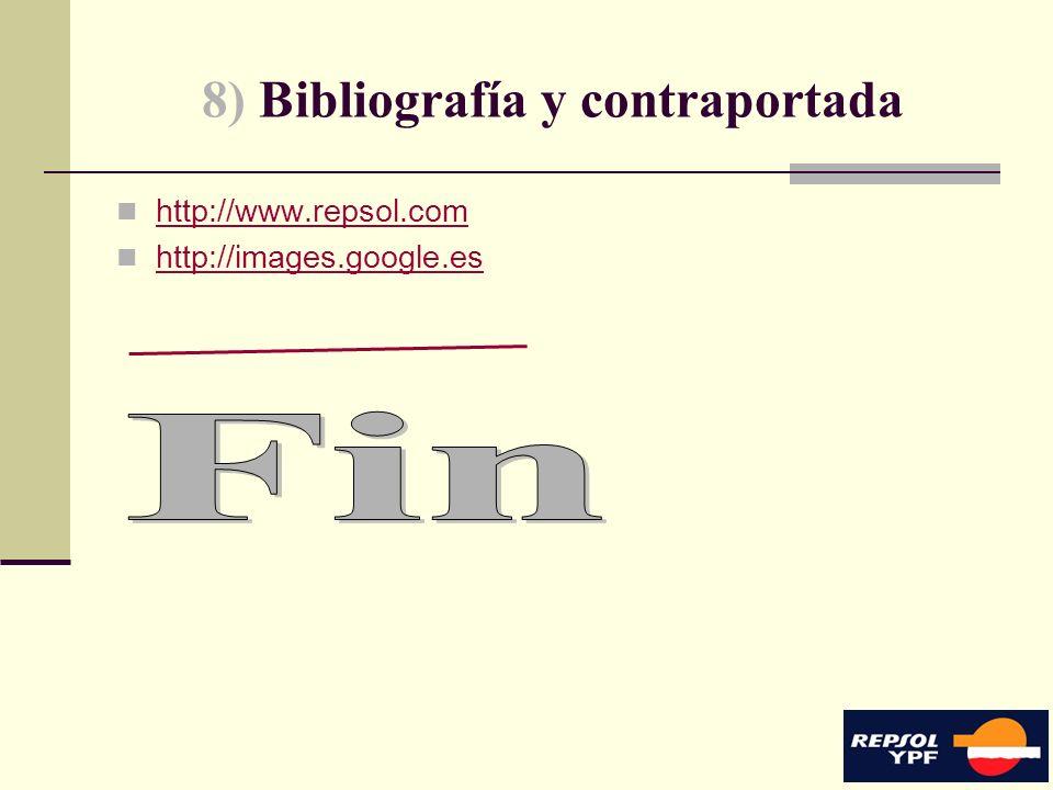 8) Bibliografía y contraportada