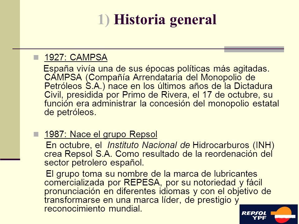 1) Historia general 1927: CAMPSA