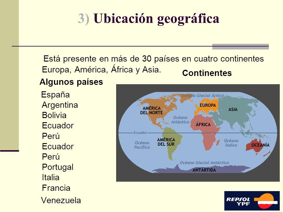 3) Ubicación geográfica