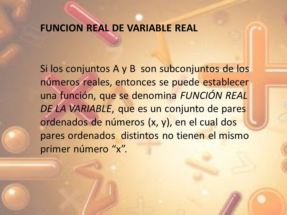 FUNCION REAL DE VARIABLE REAL