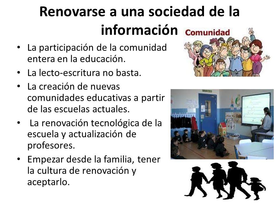 Renovarse a una sociedad de la información