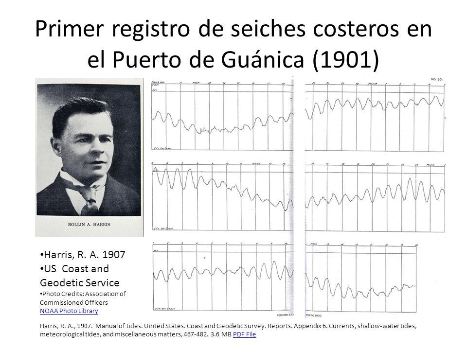 Primer registro de seiches costeros en el Puerto de Guánica (1901)
