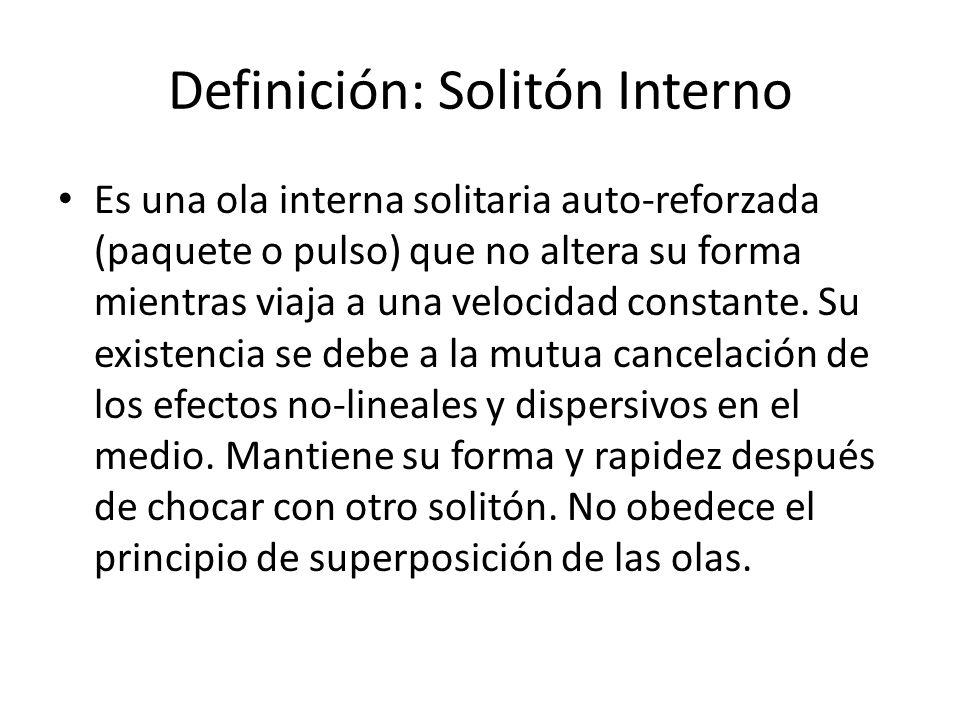 Definición: Solitón Interno