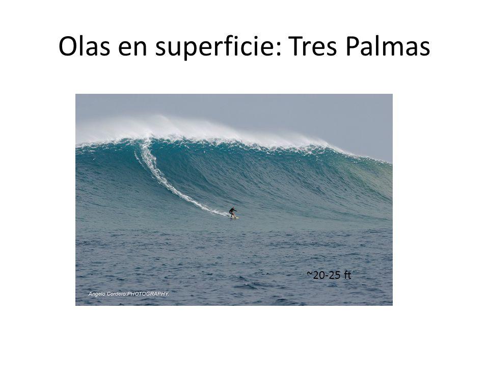 Olas en superficie: Tres Palmas