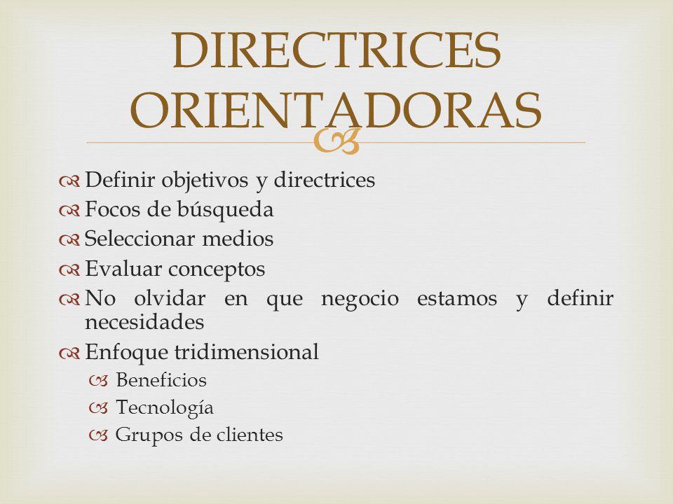 DIRECTRICES ORIENTADORAS