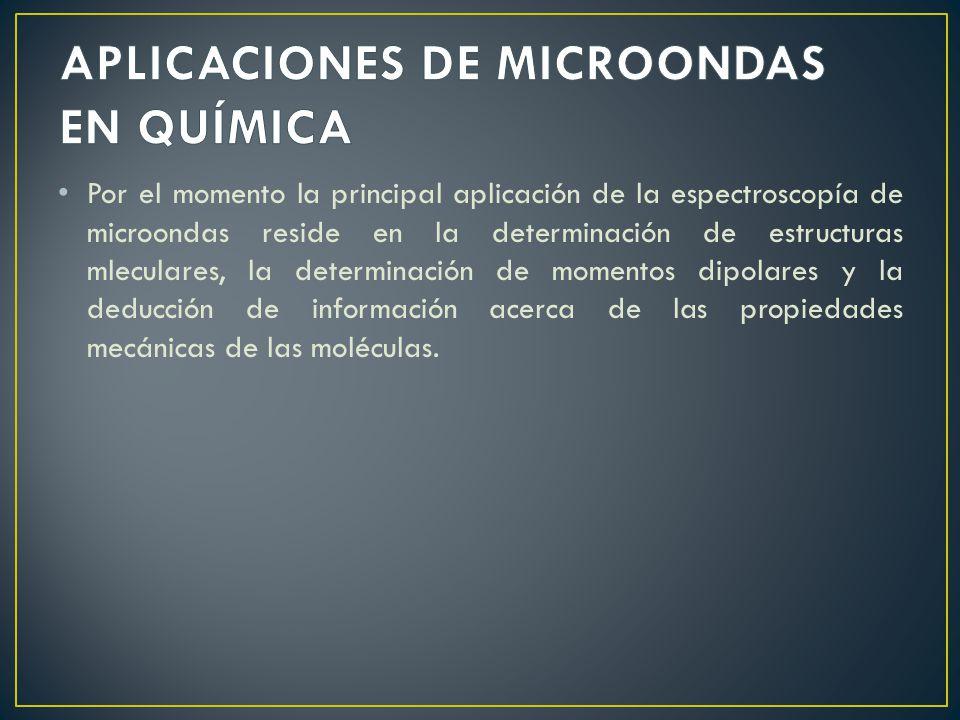 APLICACIONES DE MICROONDAS EN QUÍMICA