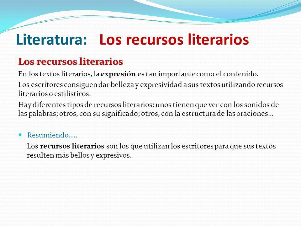 Literatura: Los recursos literarios