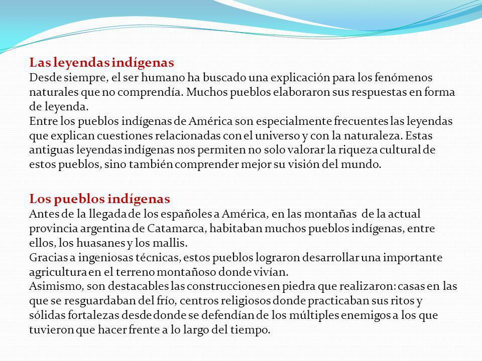 Las leyendas indígenas