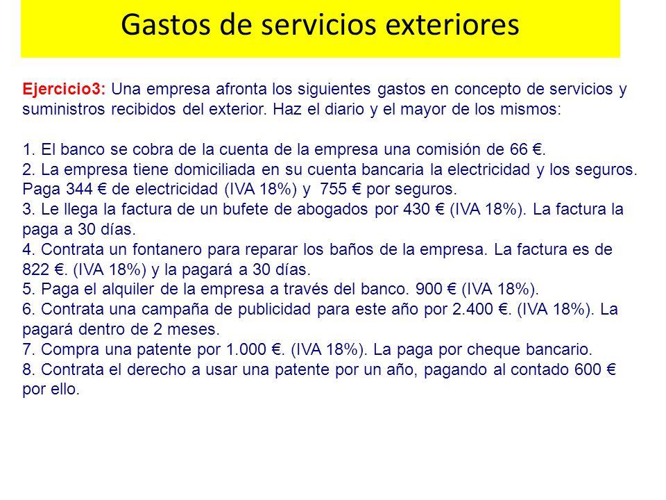 Gastos de servicios exteriores