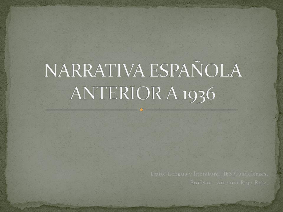 NARRATIVA ESPAÑOLA ANTERIOR A 1936