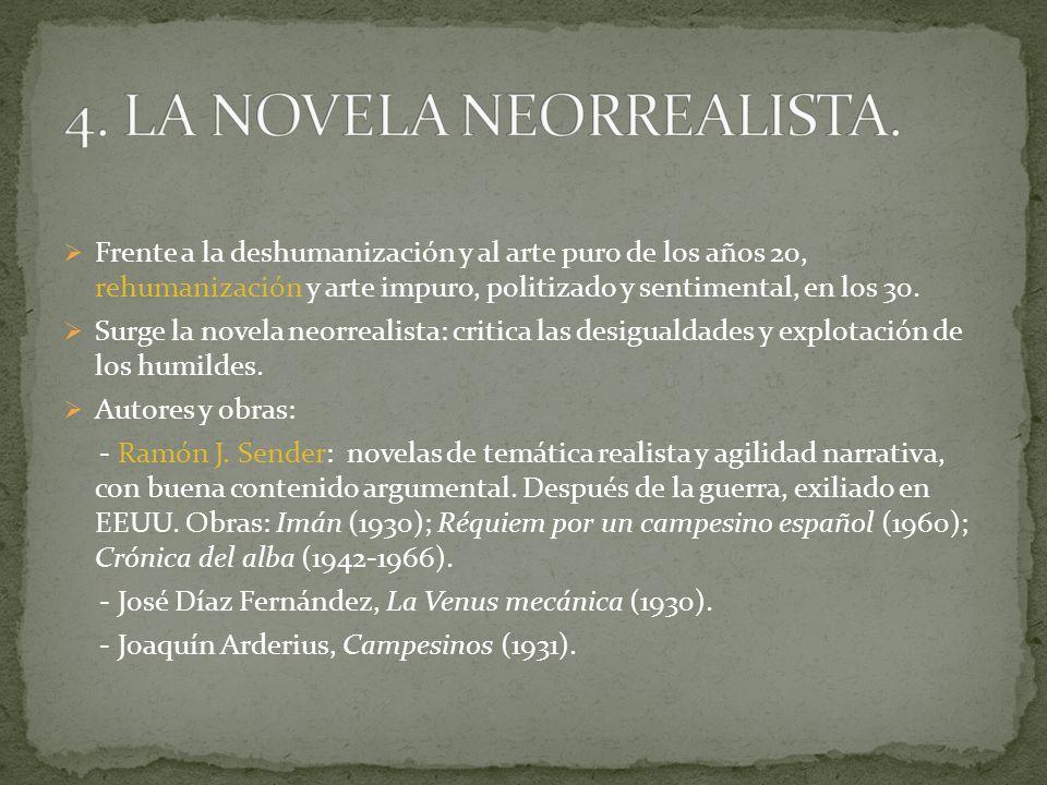 4. LA NOVELA NEORREALISTA.