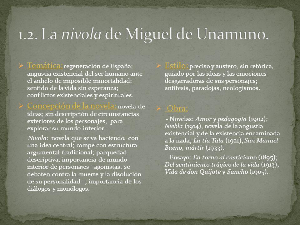1.2. La nivola de Miguel de Unamuno.