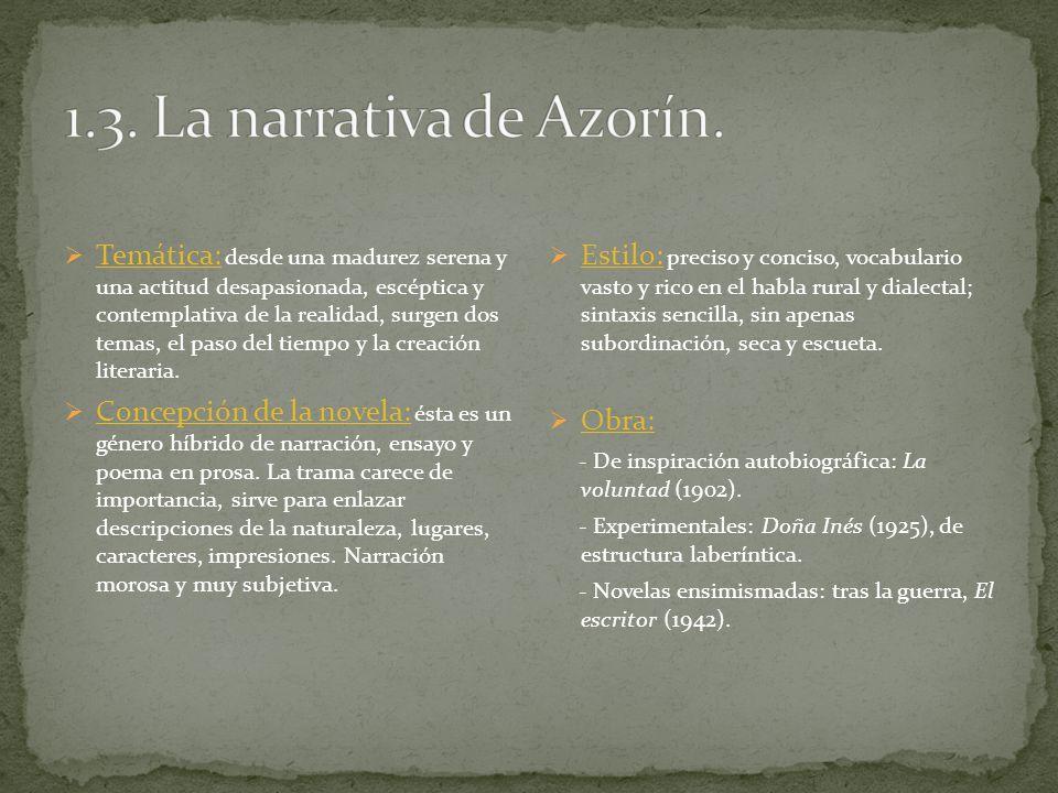 1.3. La narrativa de Azorín.