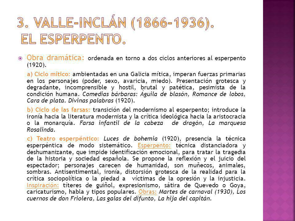 3. valle-inclán (1866-1936). El esperpento.