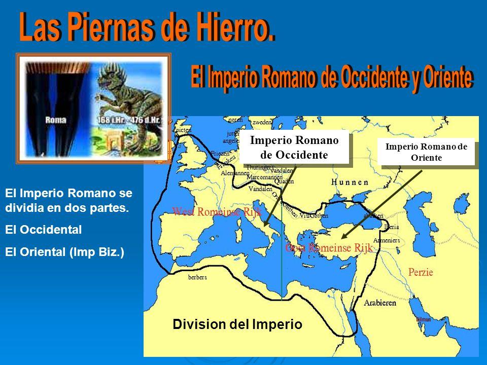Las Piernas de Hierro. El Imperio Romano de Occidente y Oriente