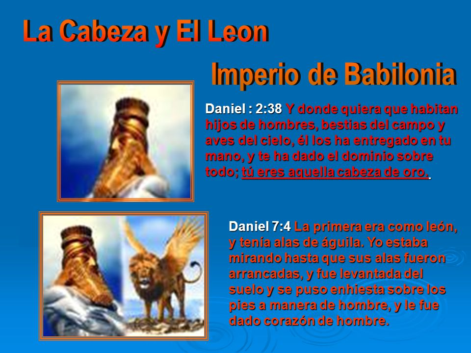 La Cabeza y El Leon Imperio de Babilonia