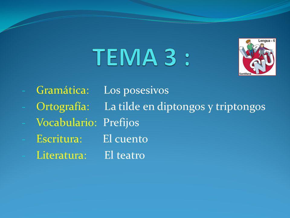 TEMA 3 : Gramática: Los posesivos