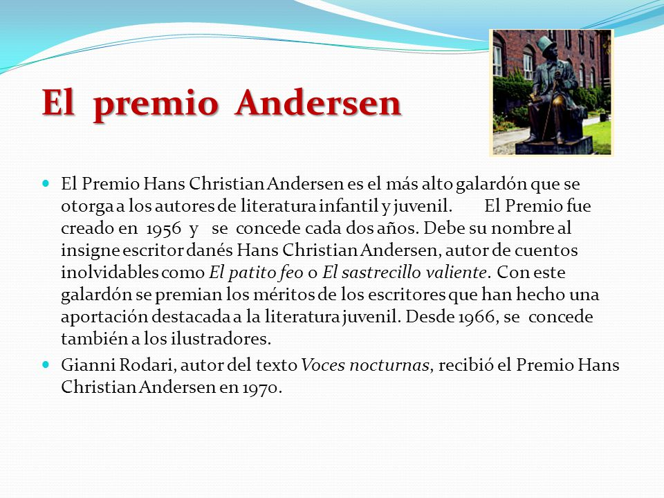 El premio Andersen