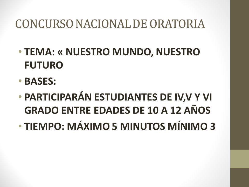 CONCURSO NACIONAL DE ORATORIA