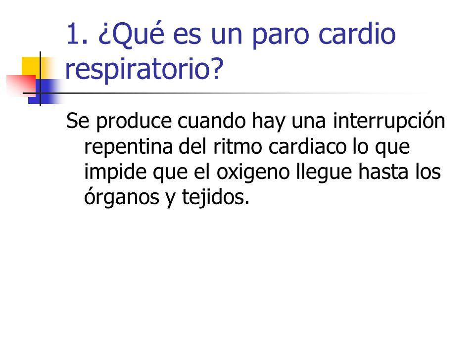 1. ¿Qué es un paro cardio respiratorio