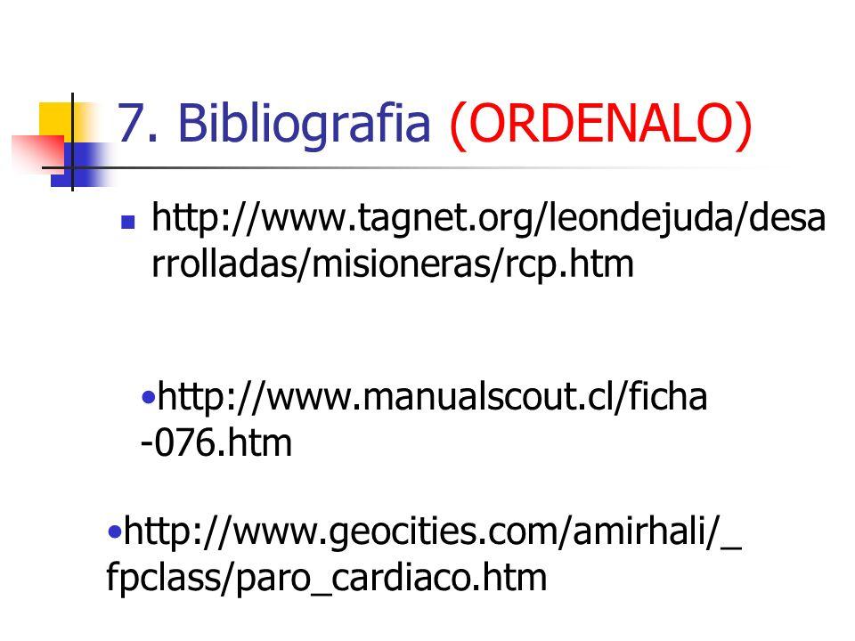 7. Bibliografia (ORDENALO)