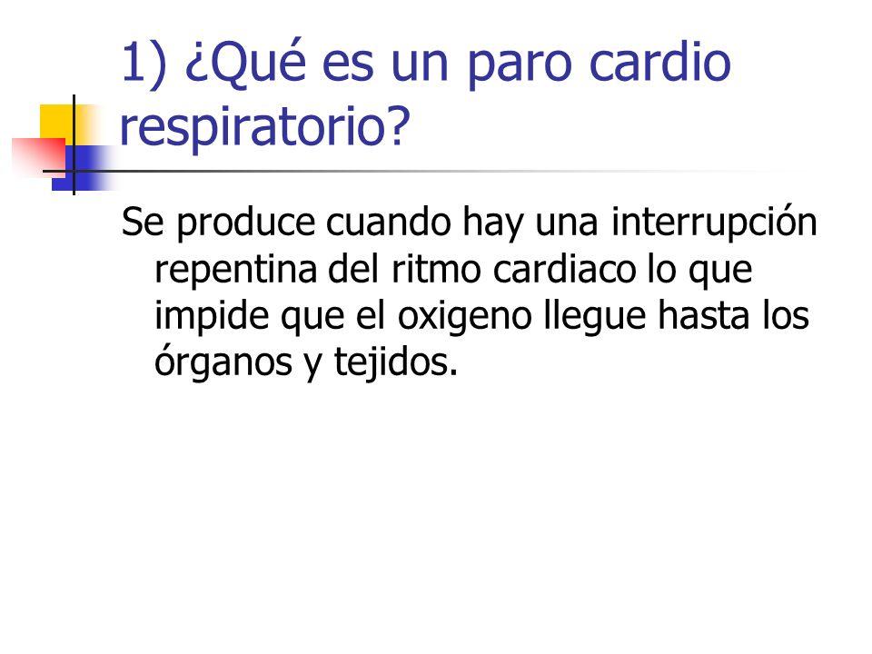 1) ¿Qué es un paro cardio respiratorio