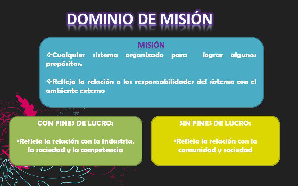 Dominio de misión MISIÓN